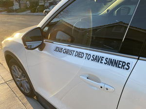 Jesus Christ Died To Save Sinners - Small Strip Magnet