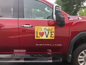 John 3:16 Perfect Love - Large Magnet