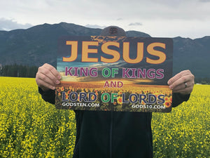 Jesus King of Kings Sunflowers - Large Magnet