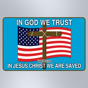 In God We Trust Flag - Large Magnet