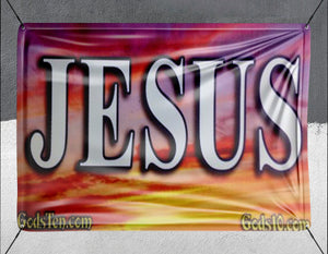 Jesus Sunset - Banner