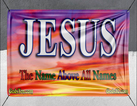 Jesus Name Above All Names Sunset - Banner