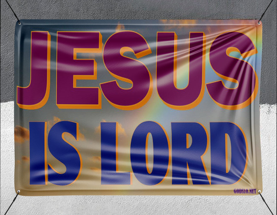 Jesus Is Lord Clouds - Banner