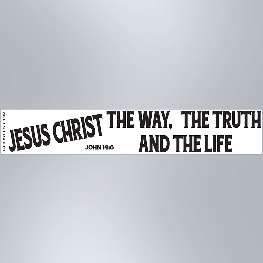 Jesus Christ The Way, The Truth And The Life - Large Strip Magnet