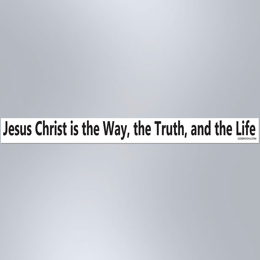 Jesus Christ Is The Way, The Truth, And The Life - Small Strip Magnet
