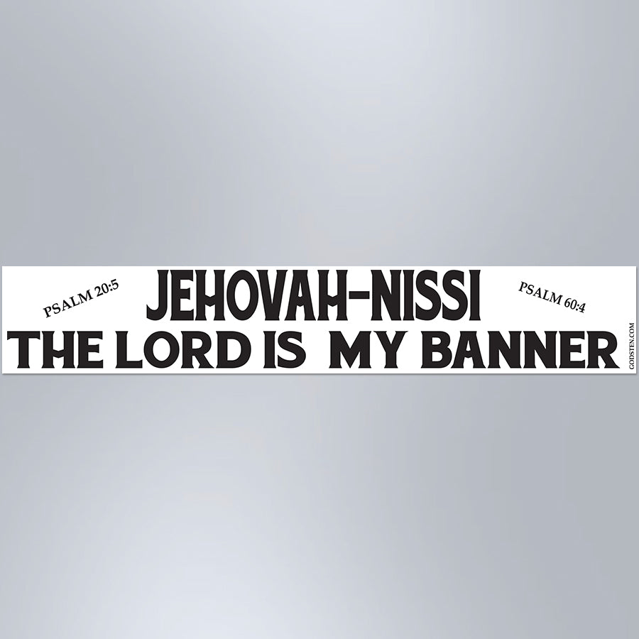 Jehovah-Nissi The Lord Is My Banner - Large Strip Magnet