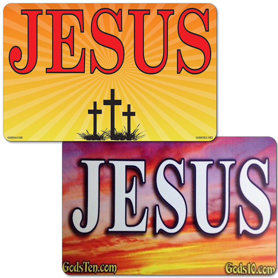 BOGO Jesus Sunset and Jesus Starburst Small Magnet Bundle (LIMIT 5 PER PERSON)