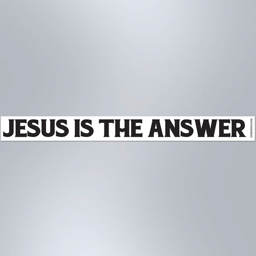 Jesus Is The Answer - Small Strip Magnet