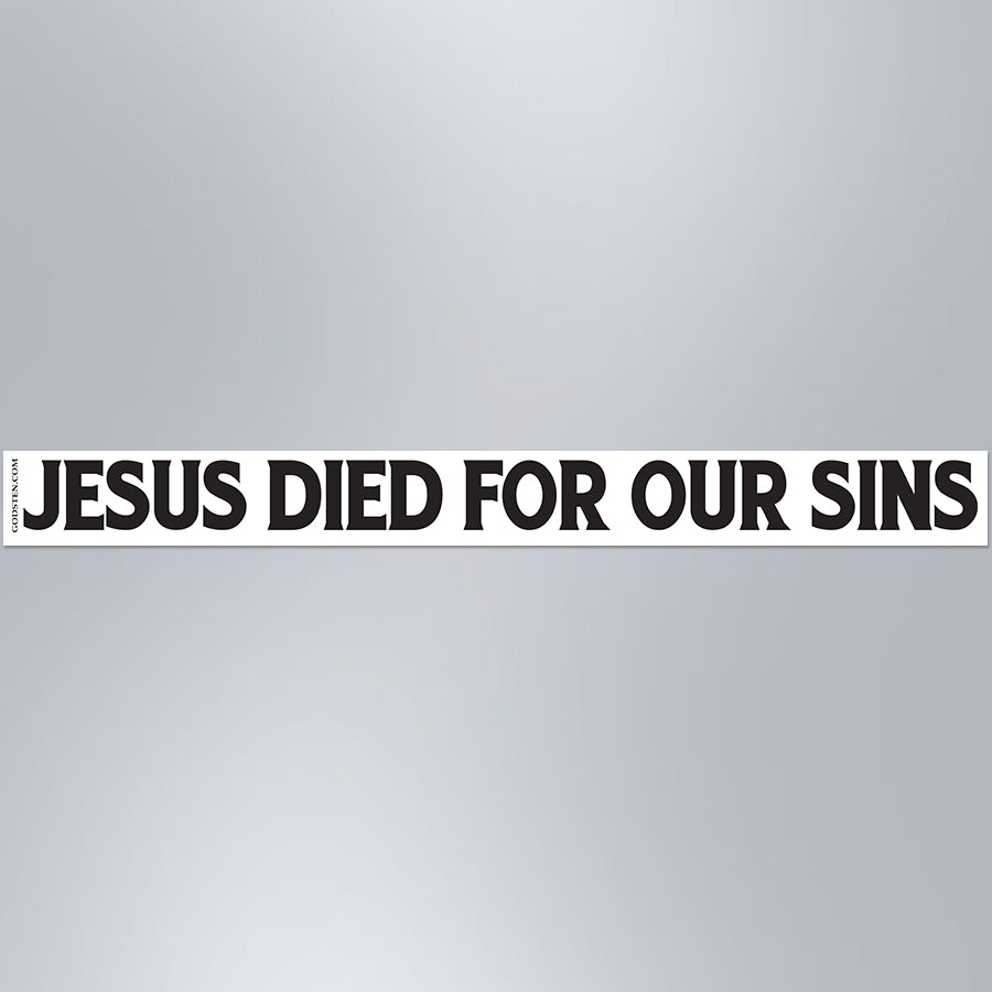Jesus Died For Our Sins - Small Strip Magnet