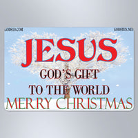 Christmas God's Gift to the World With Snow - Large Magnet