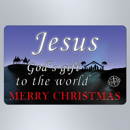 Christmas Jesus God's Gift To The World 3 Wisemen - Large Magnet