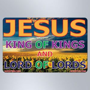 Jesus King of Kings Sunflowers - Small Magnet