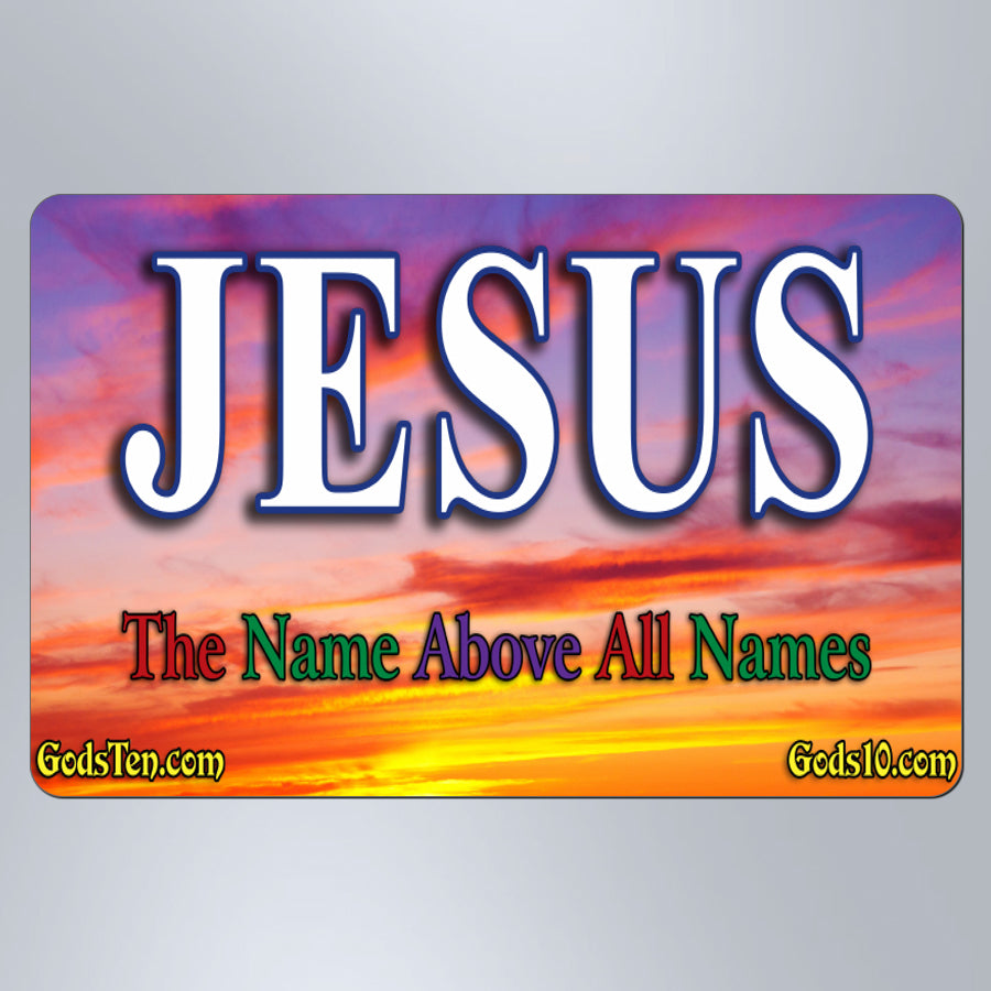 Jesus Name Above All Names Sunset - Large Magnet