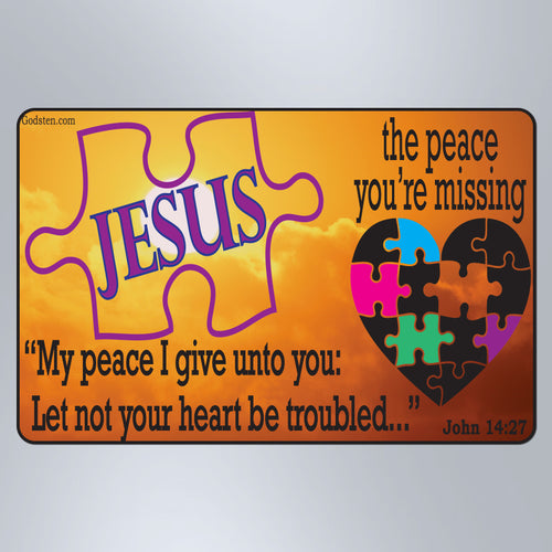 The Peace You're Missing Sunset Original - Small Magnet