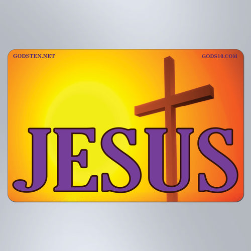 Jesus Purple with Cross - Small Magnet