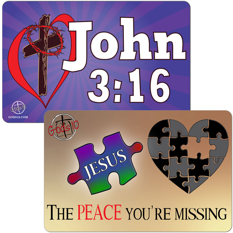 VALENTINES DAY SPECIAL!!  Peace You're Missing & John 3:16 BUNDLE (LIMIT 5 PER PERSON)