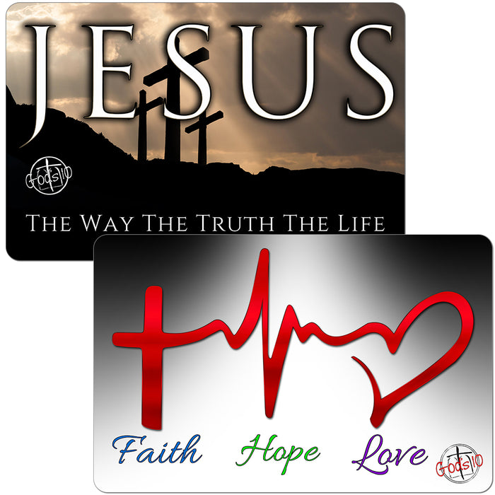 BOGO Jesus Dark & Heartbeat Small Magnet Bundle