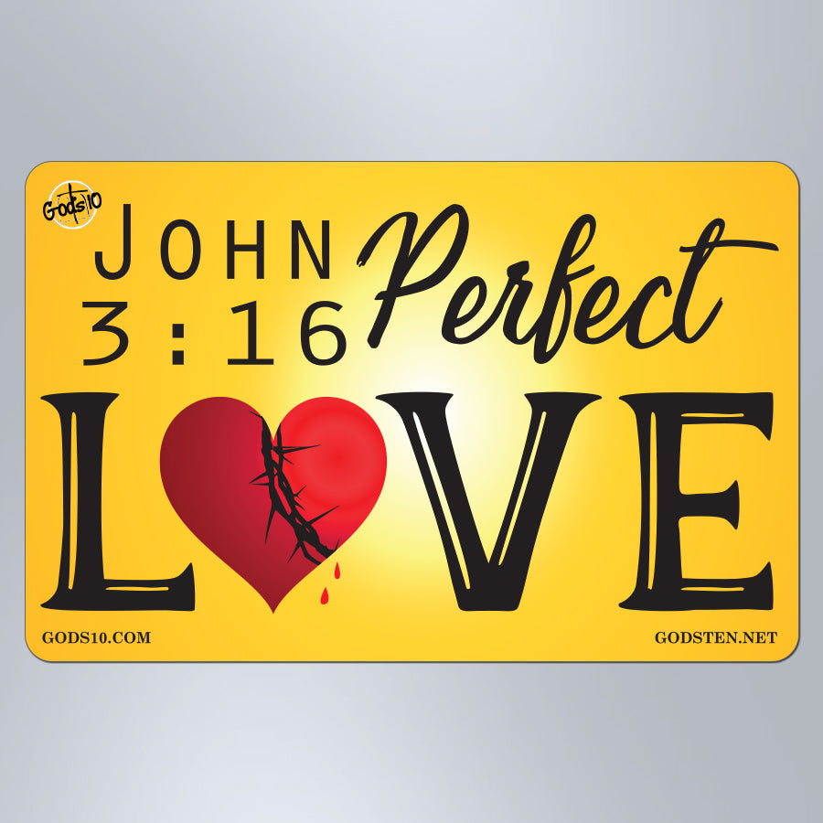 John 3:16 Perfect Love - Small Magnet