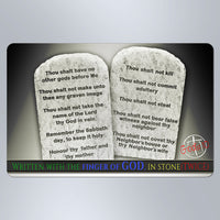 10 Commandments Written With The Finger Of God Stone Tablets - Small Magnet
