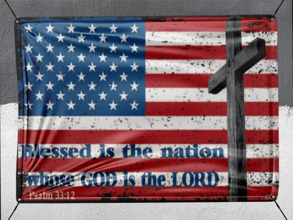 Blessed Is The Nation - Banner