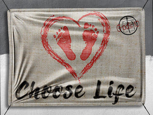 Choose Life Baby Feet - Banner
