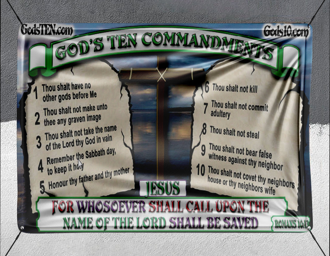 10 Commandments Original For Whosoever Shall Call Upon - Banner