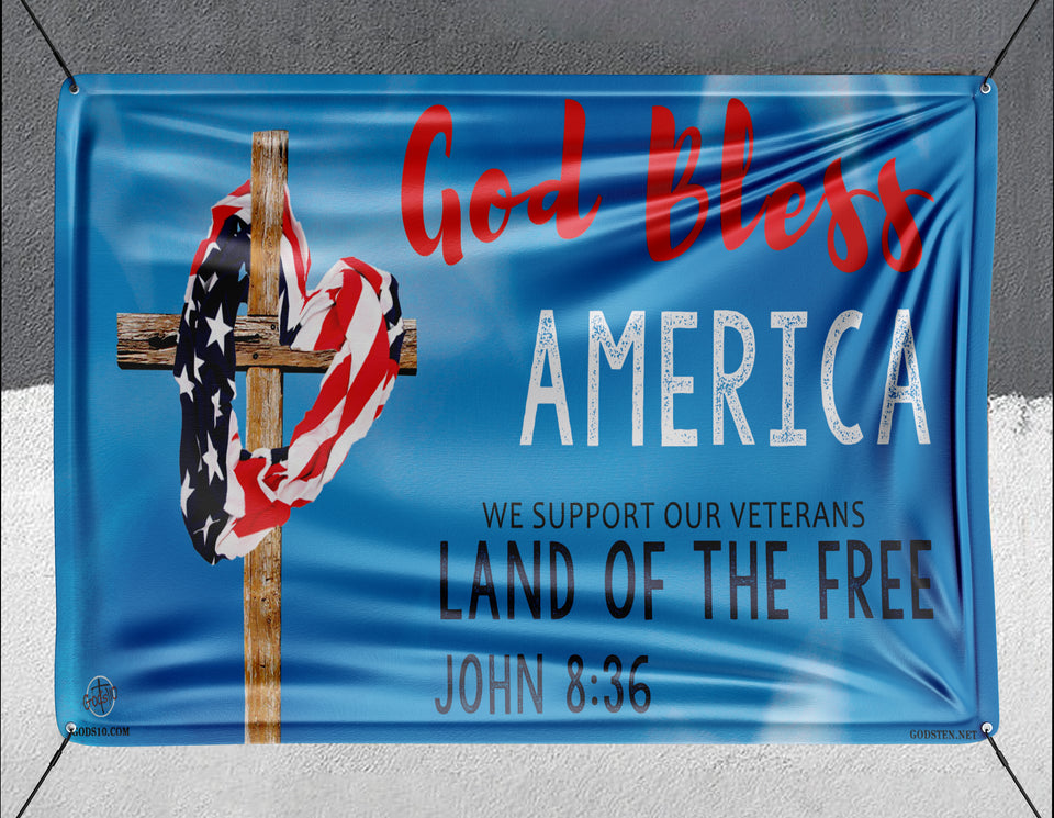 God Bless America Blue - Banner
