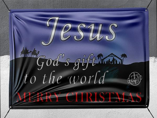 God's Gift To The World - Banner
