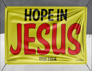 Hope In Jesus Yellow - Banner
