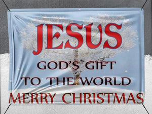 Christmas Jesus God's Gift To The World - Banner