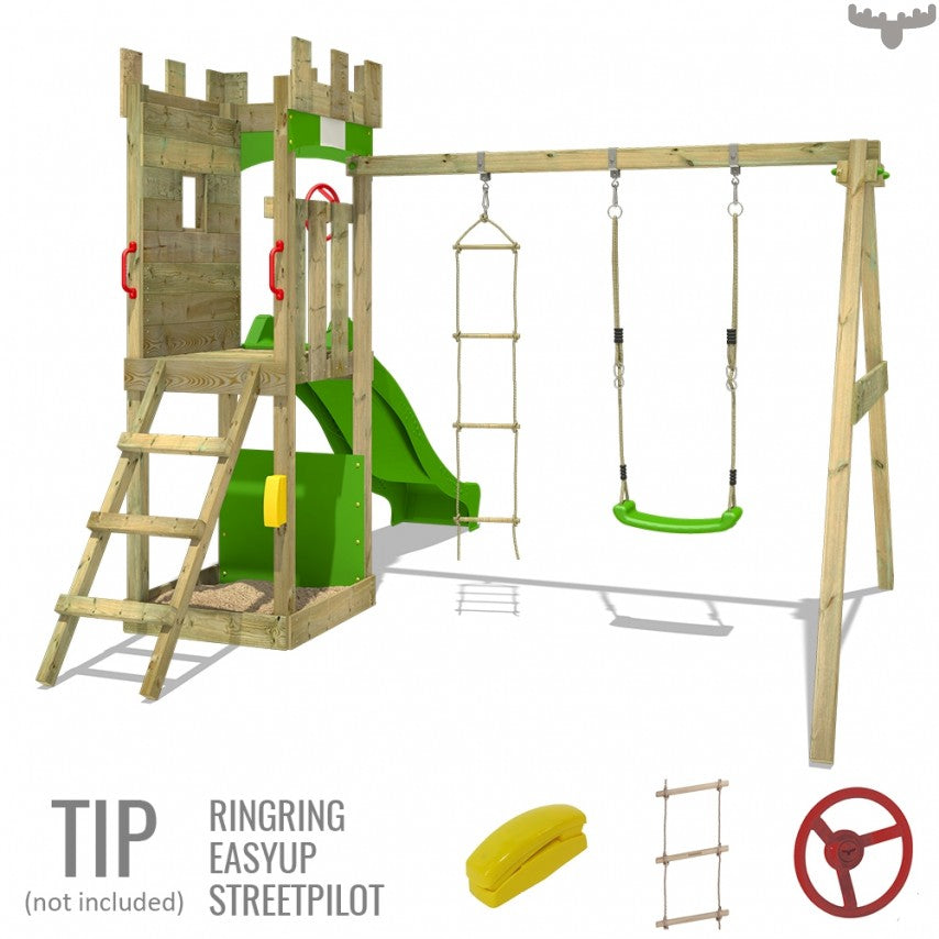 Детская площадка Fatmoose TreasureTower Top c SuperSwing