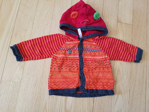 Veste de maille orange Souris Mini 0-3 mois JR48