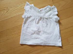 Camisole blanche Carter's 6 mois CC1733