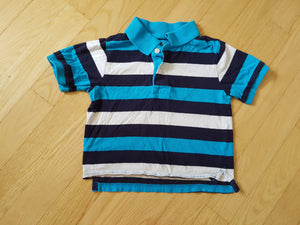 Tshirt polo rayé bleu Children's Place 2 ans KR627