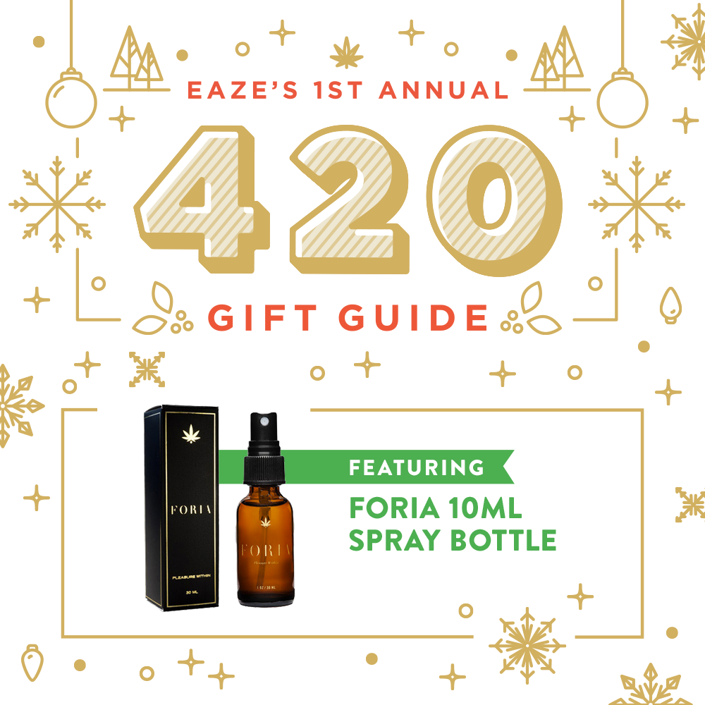 420 friendly, gift guide, eaze, foria, foria spray, cannabis lube