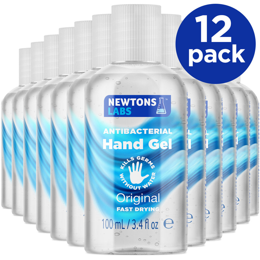 12 Pack - Antibacterial Hand Gel & Sanitiser - 100ml