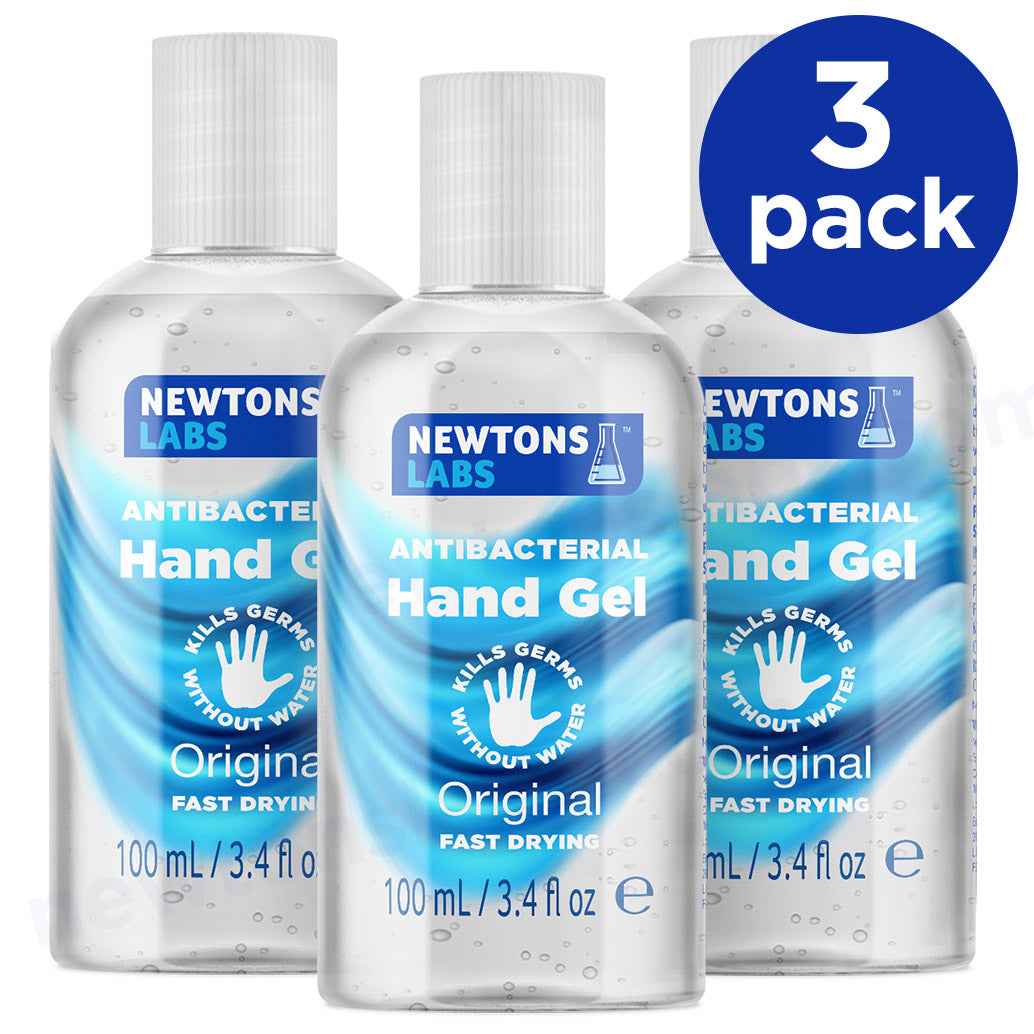 3 Pack - Antibacterial Hand Gel & Sanitiser - 100ml