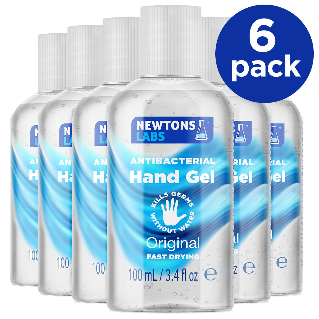 6 Pack - Antibacterial Hand Gel & Sanitiser - 100ml