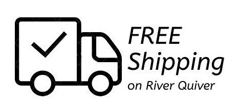 Says FREE Shipping on River Quiver