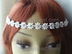 Flower Rhinestone Crown Head Piece