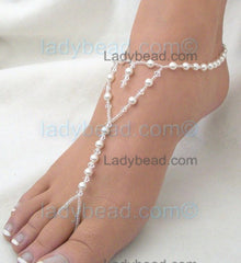 White Pearl Heart Shape Sandals