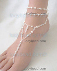 Pearl Crystal Foot Wrap Jewelry