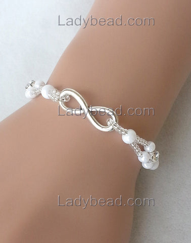 Forever Love Bracelet #B62 - Ladybead Beach Bride Jewelry and More!! USA - 1
