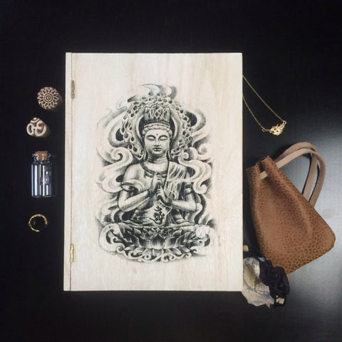 "Buddha ""Book"" Treasure Box (Off White)"