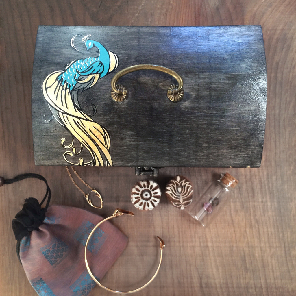 Gypsy Peacock Treasure Box
