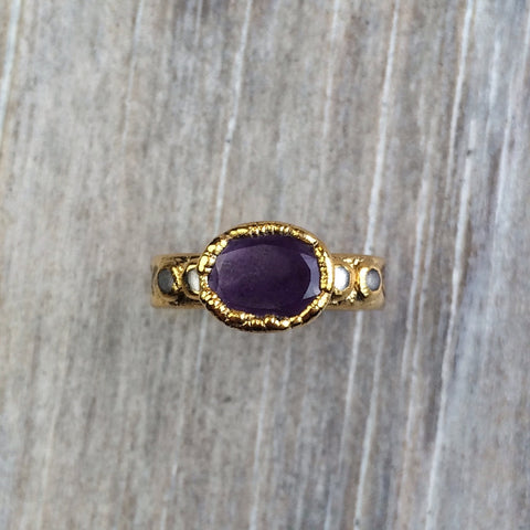 Amethyst & Moonstone Ring