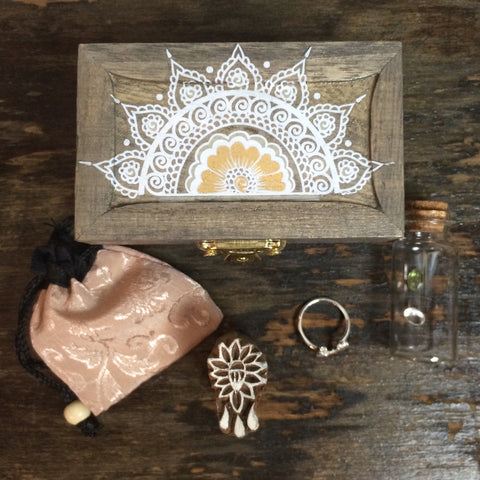 White Mandala Treasure Box