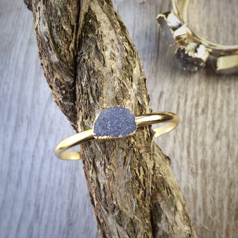 Stackable Druzy Bangle