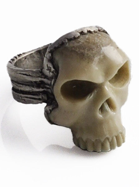 Carved Bone Skull Ring (Deposit for custom design)