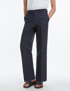 Tailored trousers linen wide